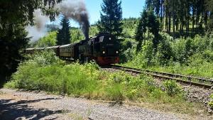 Dampflok der Harzer Querbahn kurz vor Sophienhof